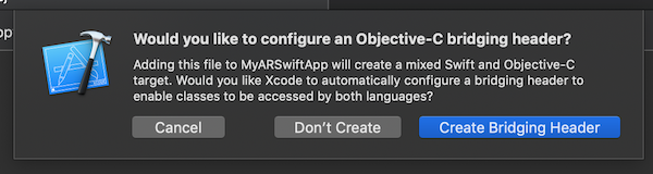 Xcode create bridging header